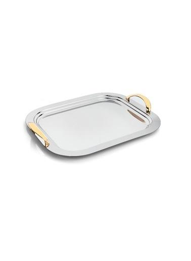 Schafer Flach Küçük Çelik Tepsi-GUM03-29779 Gümüş